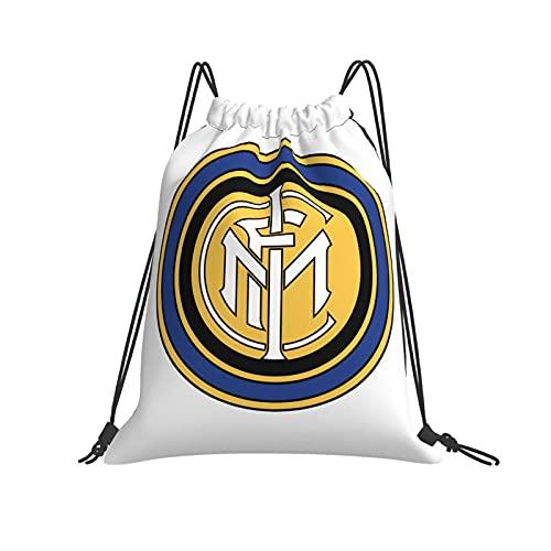 ZVEZVI In-Ter Milan Hd Png Sports Fitness al aire libre Ocio Mochila con cordón