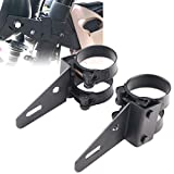 DDUOO Motorcycle Headlight Bracket 52mm, Black Motorcycle Headlight Mount for Cafe Racer S...