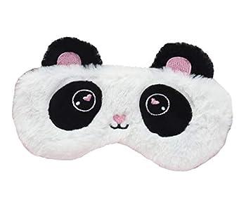 Hg Kangqi Cartoon Panda Sleeping Mask Bunny Sleeping Mask Eye Mask for Sleeping Blindfold Eye Cover Sleep Mask for Adult Kids White
