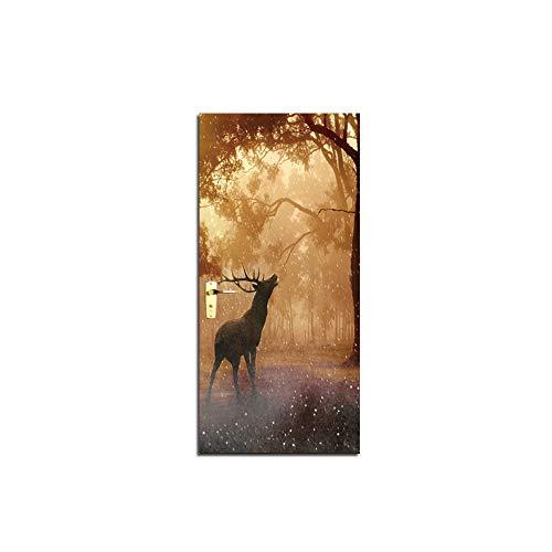 77 X 200 Painting Valley Deer Door Mural Wall Painting