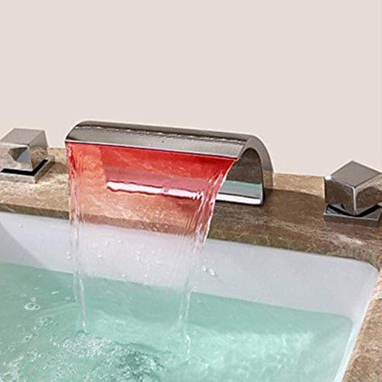 Badezimmer-Küche-Wannen-Hahn, Wasserfall Hhne Messingchrom-Kaltwasser-einzelnes Loch Waschbecken Waschtischmischer Taps Wasserhahn