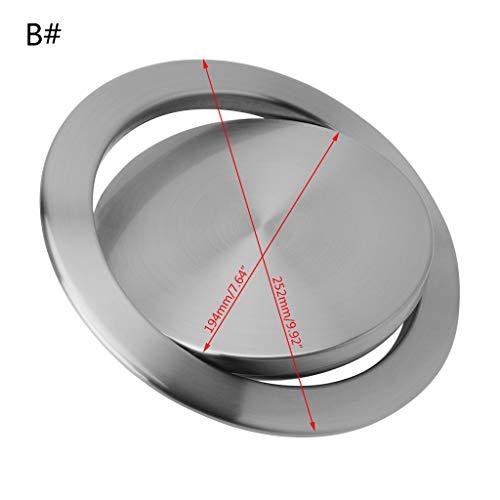 Anjuley - Cubo de Basura Integrado para Tapa de encimera de Basura para el Cuarto de baño de Cocina