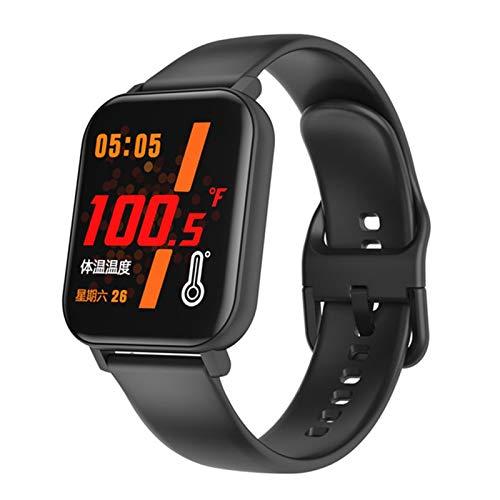 ZGNB F25 Smart Watch, Medición De La Temperatura Corporal, Pulsera De Fitness Rastreador De Fitness, Damas Y Hombres Sports Watch para iOS Android,B