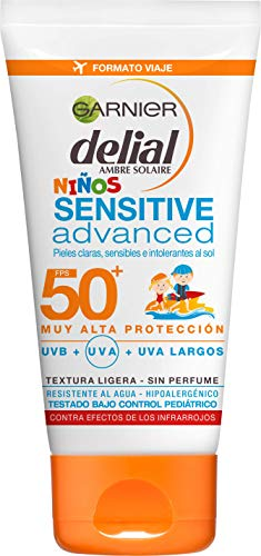 Garnier Delial Niños Sensitive Advanced Leche Solar Formato Viaje Ip50 - 50 ml