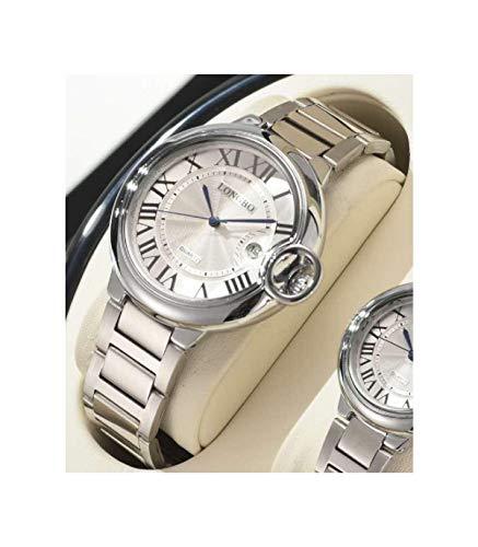 TradeShop - Orologio da Polso Uomo Donna LONGBO 80771 Quarzo Data Impermeabile Casual Silver - 30076 - Uomo