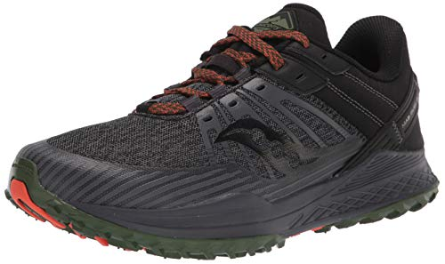 Saucony Men's MAD River TR 2 Trail Running Shoe, Charcoal/Pine, 12