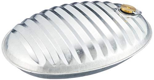 北陸土井工業 トタン湯たんぽ2.6型 IH・直火コンロで温め可能 圧力調整機能付き口栓 シルバー