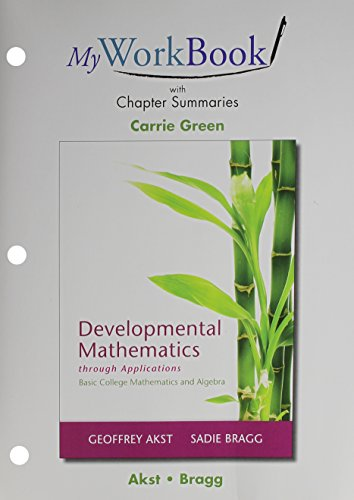 MyWorkBook for Developmental Mathematics through Applications Plus MyLab Math -- Access Card Package