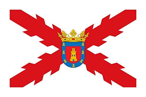 magFlags Bandera Large Municipal de Bujalance España Paño de Proporciones 3 2 de Blanco | Bandera Paisaje | 1.35m² | 90x150cm