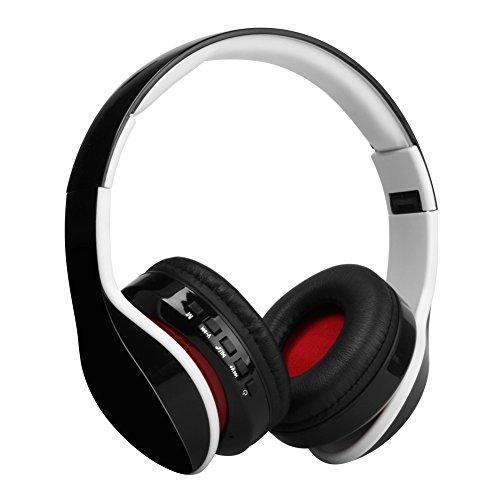 Distinct® Oplaadbare draadloze hoofdtelefoon, bluetooth over oor-stereokoptelefoon met microfoon-opvouwbare hoofdtelefoon voor op reis, werk, televisie, computer