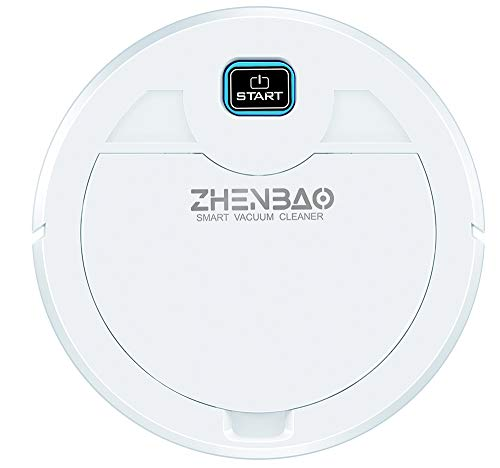 Robot Vacuum Cleaner, Super-Thin, 1800Pa Strong Suction, Quiet, Robotic Vacuum Cleaner, Cleans Hard Floors to Medium-Pile Carpets (10.2X2.1, White)