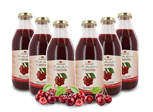 Zumo de Cereza Ecológico - Sin Azúcares Añadidos - 6 Botellas de 750ml