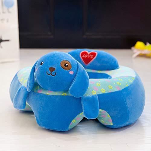 Silla De Felpa Suave para NiñOs Sofá Cama con Forma De Dibujos Animados Lindo SillóN para NiñOs Muebles para Sala De Estar Dormitorio,Azul