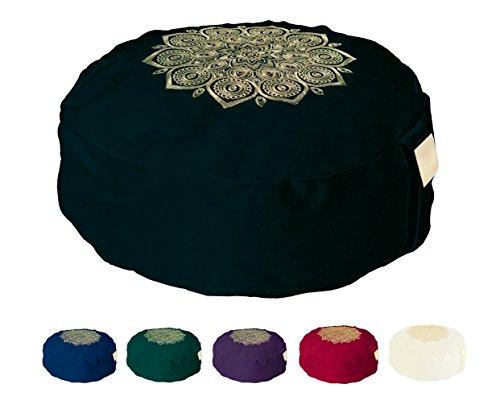 Om Vita Zafu Yoga Meditation Cushion with Washable Cover with 100%...