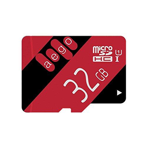 AEGO Scheda di Memoria Micro SD Card 32GB Classe 10 UHS-1 per Dash Cam/YI Camera con Adattatore-2 Pezzi U1 32GB