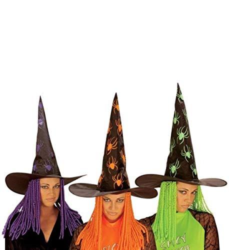 WIDMANN S.R.L., B Vert Cheveux Witch araignées Hat