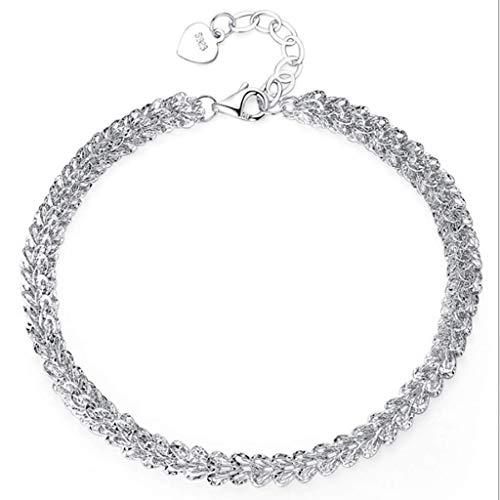 Pulsera SMEJS, pulsera de plata esterlina, estudiante, regalo simple del Día de San Valentín para novia, joyería roja, diseño de nicho para mujeres