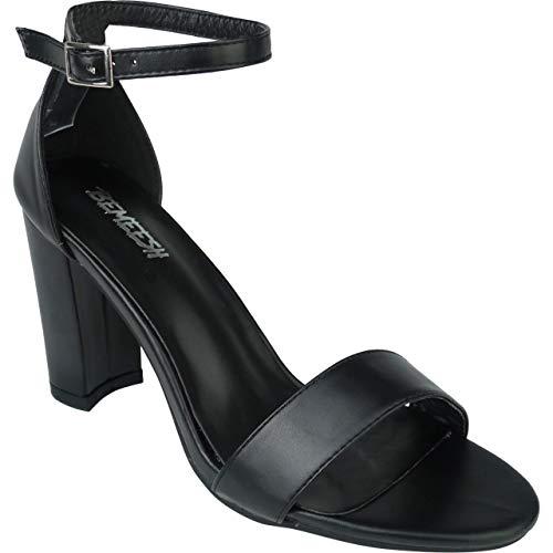 BeMeesh Zapatos Mujer Tacón de Pulsera Peep Toe