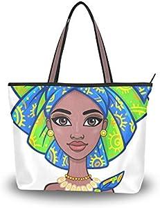 NaiiaN Bolso de compras, bolsos de hombro para mujeres, niñas, señoras, estudiantes, atractivas niñas africanas, ropa étnica, bolsos, bolso de mano, correa ligera