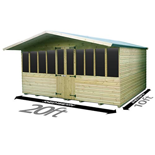Total Sheds 20ft (6m) x 10ft (3m) Summer House Cabin Supreme Cabin