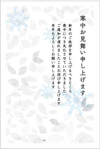 《私製 5枚》寒中見舞はがき(No.k824 喪中用文章)《切手なし/裏面印刷済み/ポストカード》