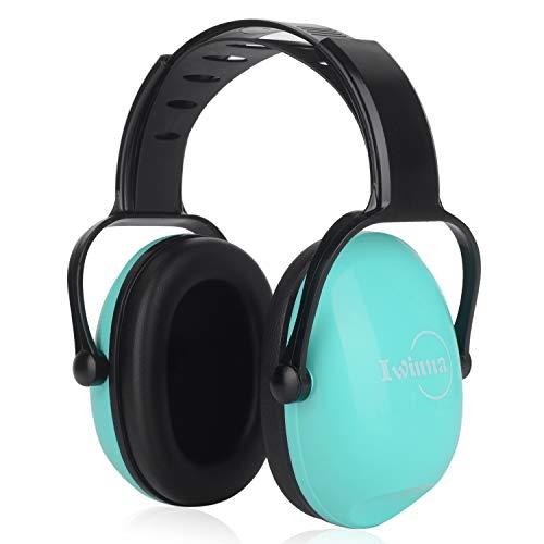 Protección auditiva para niños Auriculares con cancelación de Ruido para niños pequeños, Diademas Ajustables Defensas auditivas para Dormir Estudiando Campo de Tiro Caza Deportes, Verde