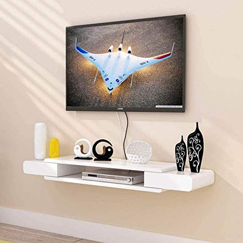 N/Z Einrichtungsgegenstände Schwimmendes Regal Wand TV-Schrank Wand Hintergrund Lagerregal DVD Set-Top-Box Satelliten-TV-Box Kabelbox Lagerregal für Komponenten 2 Schichten/B / 130cm