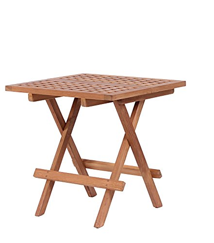 Mr. Deko Teak Beistelltisch Devon - Teak - Tisch - Gartentisch - Outdoormöbel - Teakholz - für Balkon, Terrasse, Wintergarten, Garten