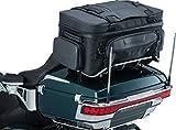 Kuryakyn 5251 XKursion XS Guardian Motorcycle Travel Luggage: Weather Resistant Seat/Trunk/Rack Bag with Bar Straps, Black