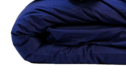 Nuit de France Housse DE Couette Unie Coton 57 Fils Coloris Marine, 100%, Bleu, 140/200
