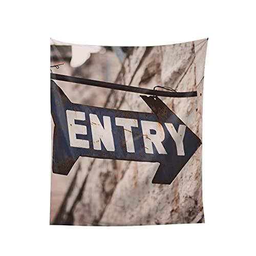 Tapiz con indicación para entrar en la pared para colgar en la ventana, decoración del hogar, cortina para dormitorio, collage y oficina de 152 x 152 cm
