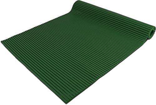 normani 65 oder 130 cm breiter Badvorleger/rutschfeste Matte/Bodenbelag aus PVC Weichschaum,wasserabweisend und rutschhemmend für Bad, Dusche oder Küche Farbe Dunkelgrün Größe 65 cm x 100 cm