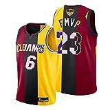 XZDM Camiseta De Baloncesto Lebron James para Hombre, Lakers - Cleveland Cavaliers - Camiseta De Uniforme De Baloncesto De Miami Heat # 6# 23 FMVP, Camiseta Sin Mangas U FMVP-XXL
