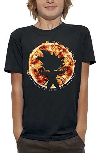 PIXEL EVOLUTION T-Shirt 3D Sun Ball DBZ en Réalité Augmentée Enfant - Taille 12/14 Ans - Noir