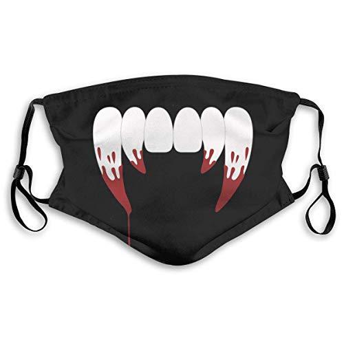 Fun-World Gesichtsschutz Mundschutz Vampire Teeth Mundschutz mit Filter Waschbar Atmungsaktive Staubdicht Schutz Bandana