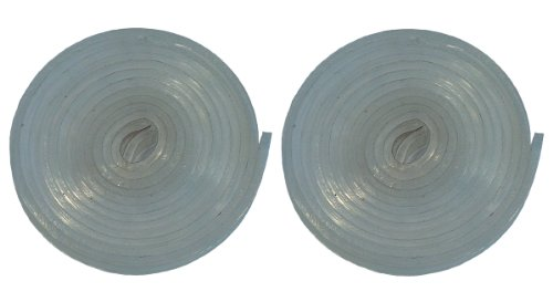 Namiba Terra 25020 Dichtungsstreifen aus Silikon, transparent 5 mm breit, Doppelpack, 1.5 mm dick, selbstklebend, 100 cm
