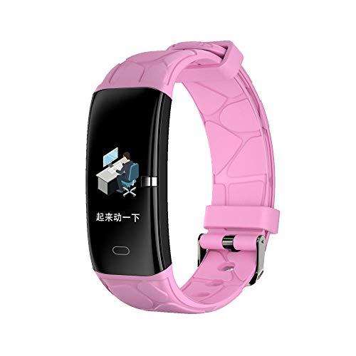 Yumanluo Smart Band Smart Watch,Reloj Inteligente de Control de la Salud, Pulsera para Hacer Ejercicio, Rosa,Pulsera Inteligente con Pulsómetro