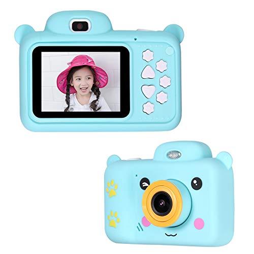 CAMWAY Kinder Kamera, Kompaktkameras für Kinder, 5-10 Jahre alte Jungen Mädchen 24MP HD-Videokamera Kreative Geschenke, Blau (32 GB Speicherkarte enthalten)