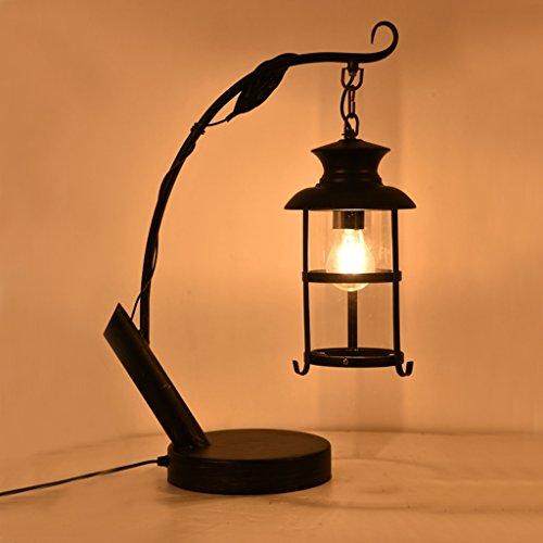 Bonne chose lampe de table Retro Personnalité Nostalgique Bar Couvre-lit Étude créative Salle de séjour Fer Décoration Lampe de table