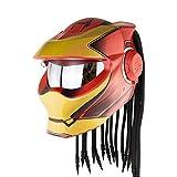 Casco de Moto,Homologado ECE-R-2205 Casco de Motocicleta Depredador,Casco de Moto Jet Modular, Adulto Unisex