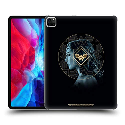 Official Wonder Woman 1984 Gold Portrait Logo Art Hard Back Case Compatible for Apple iPad Pro 12.9 (2020)
