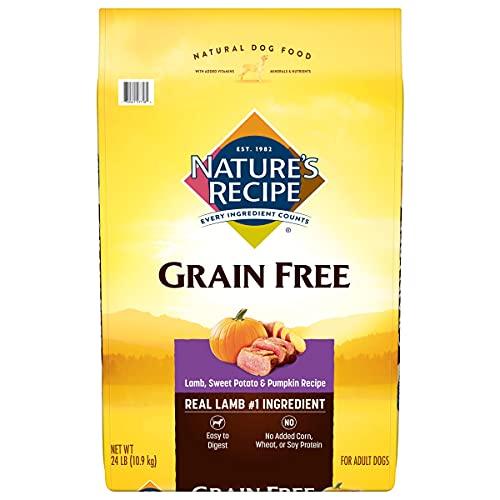 Nature's Recipe Grain Free Dry Dog Food, Lamb, Sweet Potato & Pumpkin...
