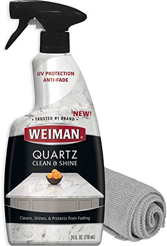 Weiman Quartz Countertop Cleaner and Polish - 24 Ounce with Microfiber...
