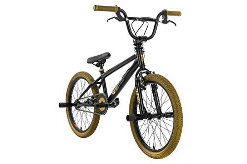 KS Cycling BMX Freestyle 20' G-Acid pour garçon Noir/doré 28 cm
