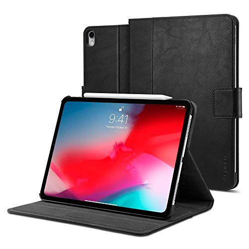 Spigen Stand Folio (Version 2) Designed for iPad Pro 11 Inch Case (2018) - Black