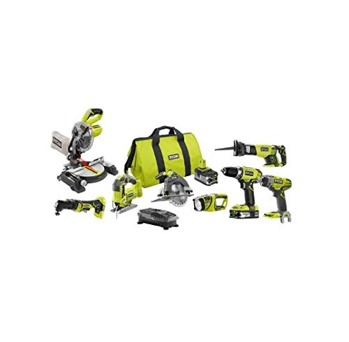 Great Features Of RYOBI 18V ONE+ Lithium-Ion Cordless Combo Kit (8-Tool) P1894