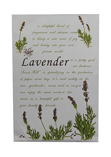 Feel Fragrance Scented Sachet for Closet,Lot of 8 (Lavender)