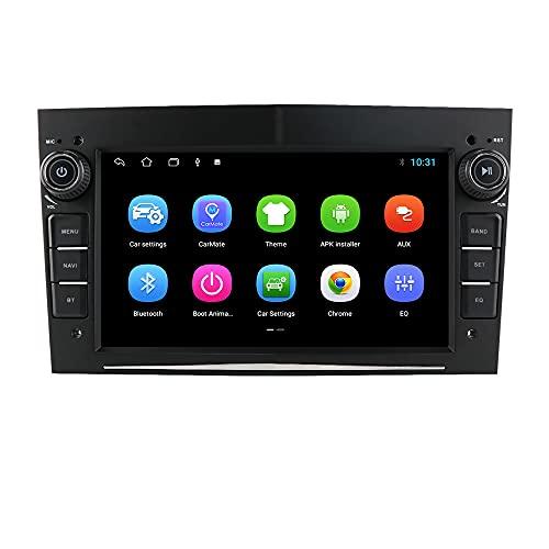 Android Autoradio Bluetooth per Opel Astra H Corsa C Zafira Corsa D Meriva Vivaro GPS Navi Bluetooth USB SD WiFi Ingresso telecamera posteriore Mirrorlink Controllo al volante DAB + DVR Nero