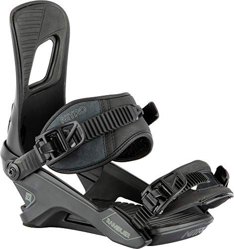 Nitro Snowboards Rambler Fijaciones de Snowboard Nitro, Hombres, Ultra Black, M