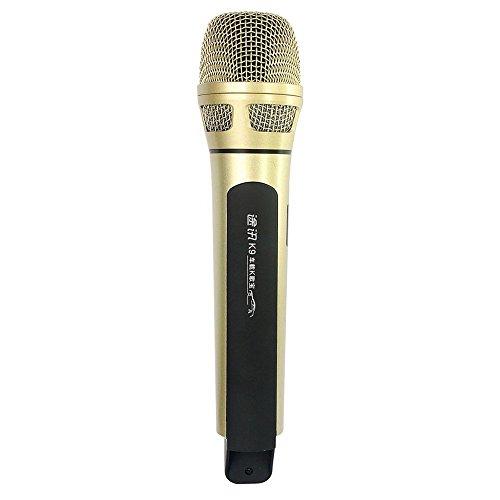 TOSING K9 Wireless Microphone Bluetooth FM Karaoke Car KTV Microphone Handheld Protable With Mic Speaker Karaoke Player For IOS& Android & Windows (Gold)